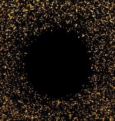 Golden Explosion of Confetti vector image vector image