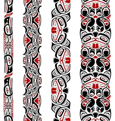 Haida style seamless pattern vector