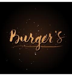 Handwriting burgers logo vector
