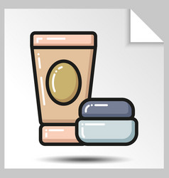 icons of beauty cosmetics 12 vector image