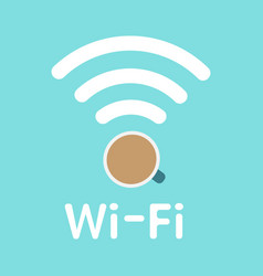 internet cafe poster design vector image
