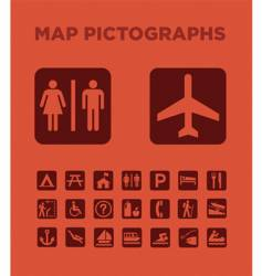 map pictographs collection vector image vector image