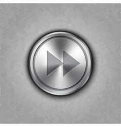Round metal fast forward knob vector