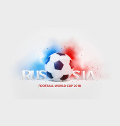 2018 3d russia football world cup vector
