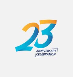 23 year anniversary celebration template design vector
