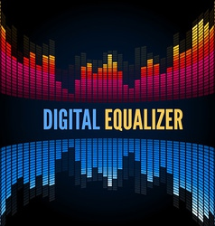 Abstract music equalizer vector image