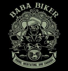 Baba biker vector