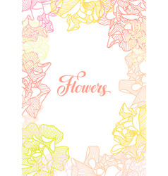 Background with delicate roses vector