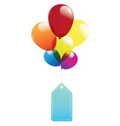 Balloon label tags colorful vector