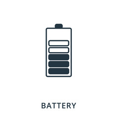 battery icon flat style icon design ui vector image