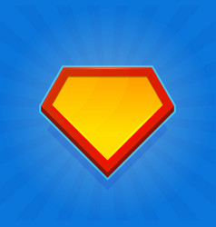 blank superhero logo icon on blue background vector image