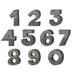 Block letter design for numbers vector