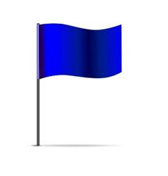 Blue triangular flag vector