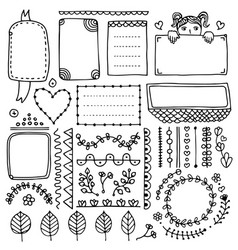 bullet journal design elements vector image
