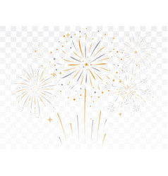Bursting fireworks with stars and sparks isolated vector