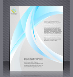 business brochure layout template with abstract vector image