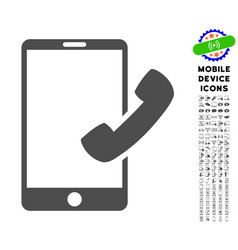 call smartphone icon with set vector image