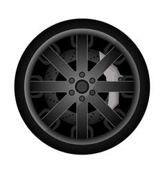 Car metal rim icon vector