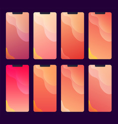 collection abstract wallpapers and backgrounds vector image