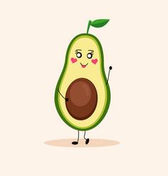 Cute avocado girl 2 vector