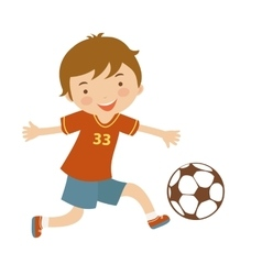 Cute football player vector image