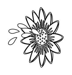 cute sunflower cartoon vector image