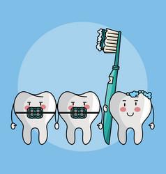 Dental care cartoons vector