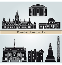 Dundee landmarks and monuments vector image vector image