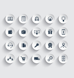 E-commerce shopping retail icons set vector