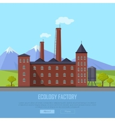 Ecology factory web banner eco manufacturing vector