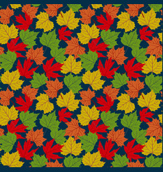 falling autumn leaves seamless pattern background vector image