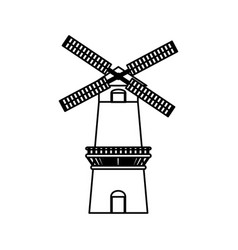 Farm windmill symbol vector