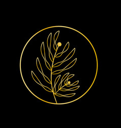 floral ornament design element vector image