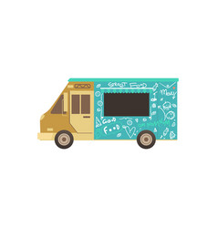 food truck or van for fas delivery street food vector image