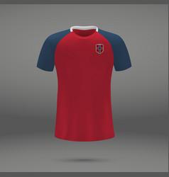 Football kit of norway vector