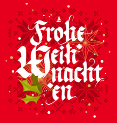 frohe weihnachten christmas card vector image