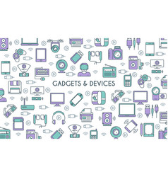 gadget and devices banner vector image