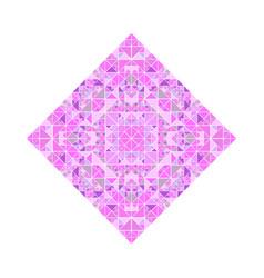 Geometrical ornate tiled mosaic diagonal square vector