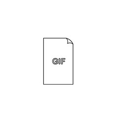 Gif file format icon gif file extension vector