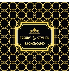 Golden and black trendy and stylish pattern vector image
