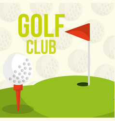golf club course flag balls background vector image