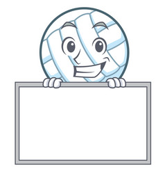 Grinning with board volley ball character cartoon vector
