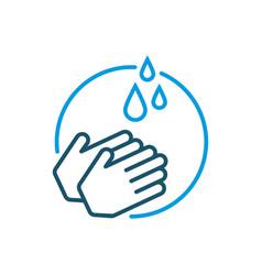 Hand washing icon vector