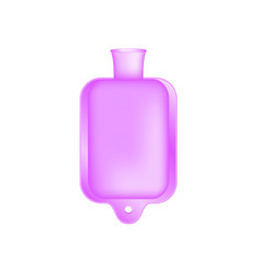 Hot water bottle in light purple design vector