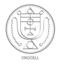 Icon with symbol demon crocell vector