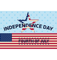 independence day greeting card flyer vector image