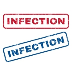 Infection Rubber Stamps vector