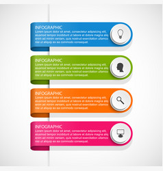 infographic template for business presentations vector image