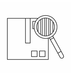 Inspection cargo icon outline style vector
