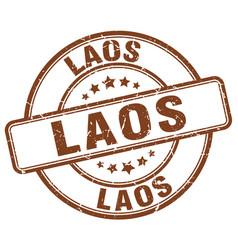 laos stamp vector image
